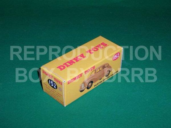 Dinky #152 Austin Devon Saloon - Reproduction Box ( Tan )